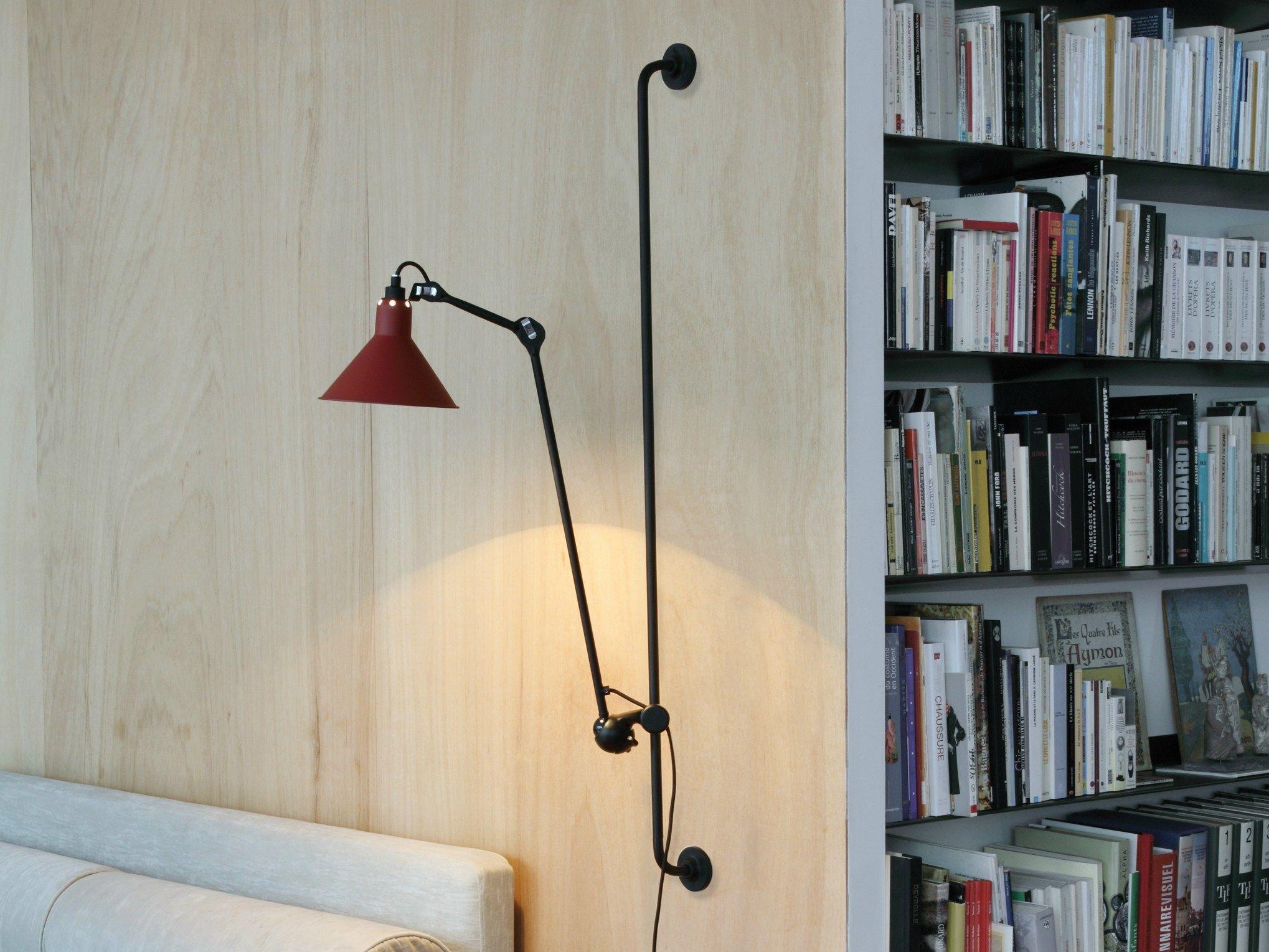 臥房區床頭壁燈 參考 Swivel Adjustable Wall Lamp With Swing Arm N° 214 Lampe GRAS  Collection By DCW éditions