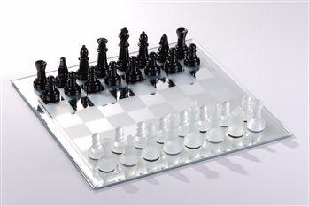 mirror chess board -chesshouse.com