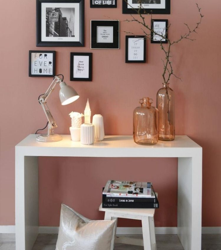 Altrosa Wandfarbe für romantisches Ambiente in 38 Bildern - rosa wandfarbe wohnzimmer