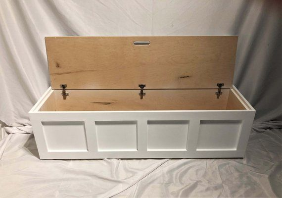 Window Bench Shaker Storage Bench Top Opening Bench Blanket Chest Painted Wood Diy Storage Bench Diy Storage Storage Bench