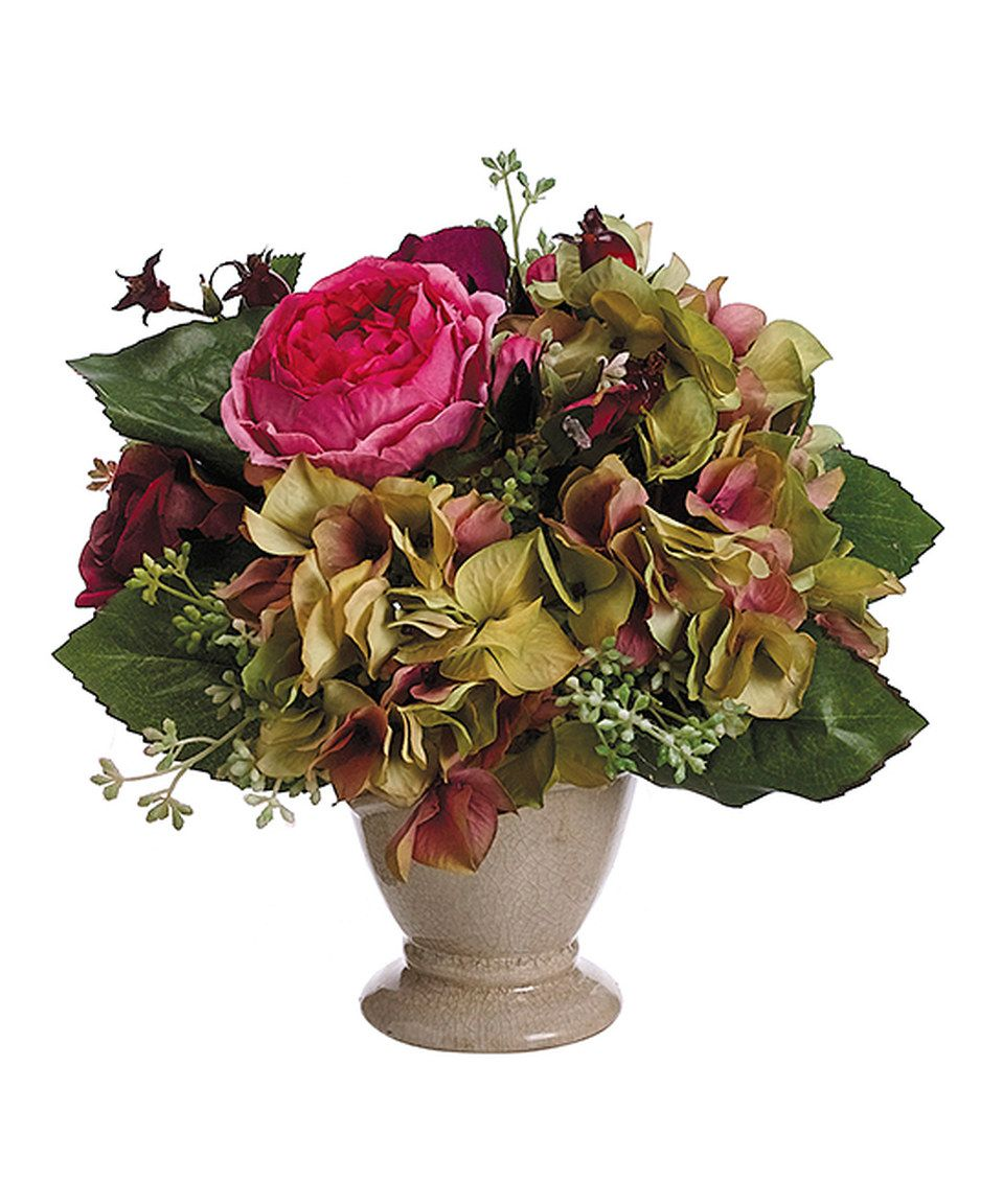 Beauty Green Rose Hydrangea Arrangement By Allstate Floral Craft
