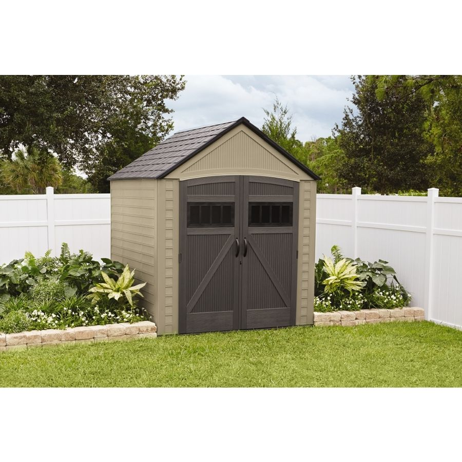 Shop Rubbermaid Roughneck Gable Storage Shed Common 7 Ft X 7 Ft