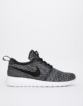 6df7a66faa576 Fab ❇ Enlarge Nike Rosherun Flyknit Grey   Black Trainers