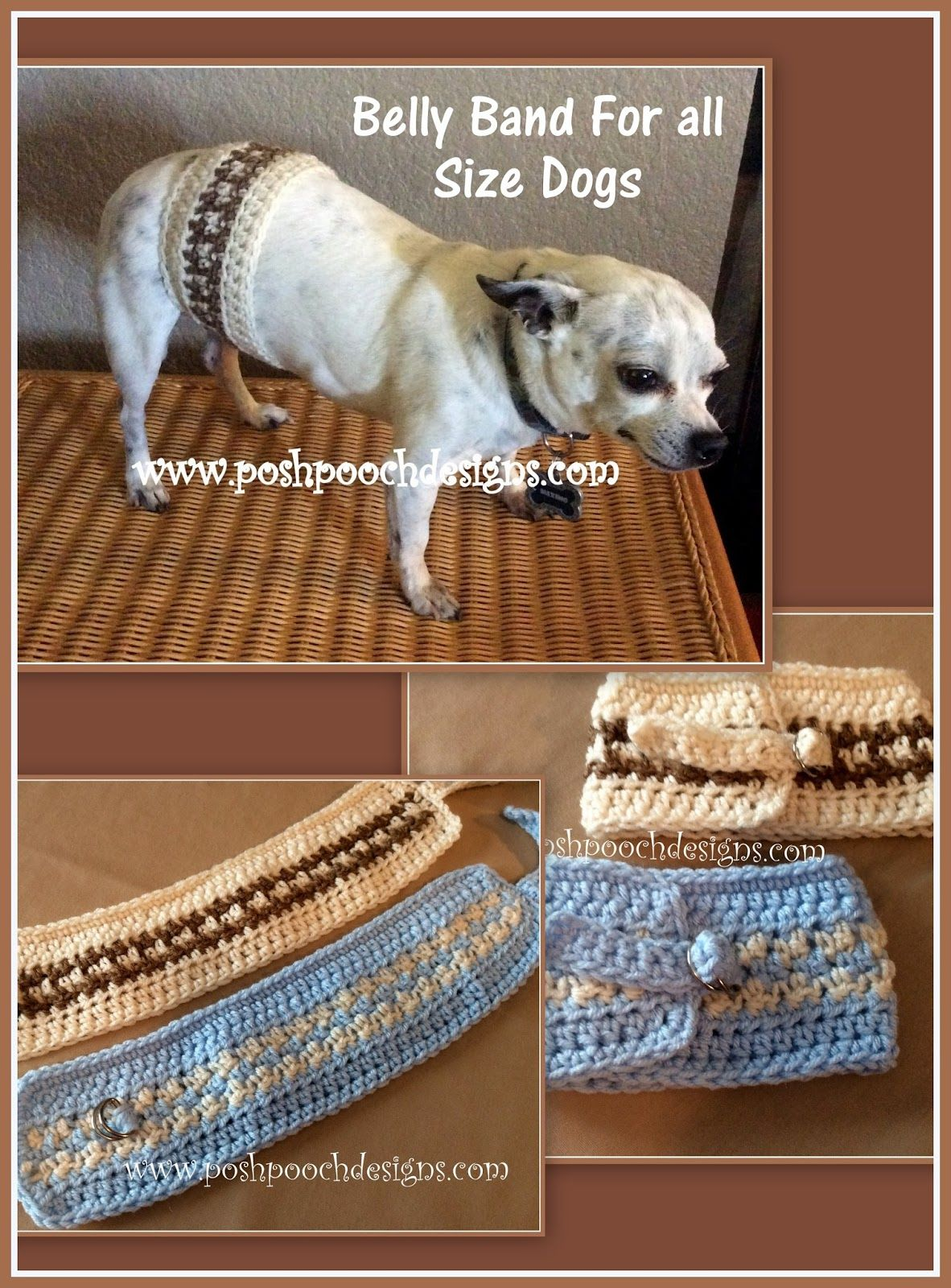 Belly Band For All Size Dogs Crochet Pattern | Pinterest