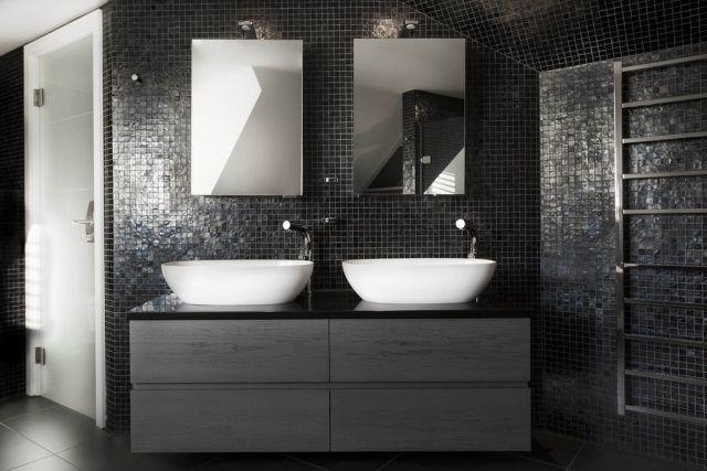 Badezimmer Bilder Beispiele Für Moderne Badgestaltung Anthrazit Fliesen Bad  Schiefer
