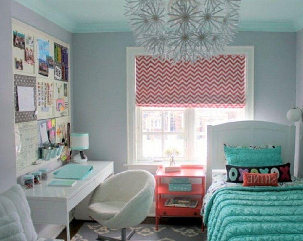Fresh Bright Window With Curtain Pink Fur Rugs Small Teenage Girl ...