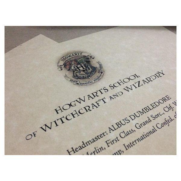 Sale Hogwarts Acceptance Letter Customizable Harry Potter