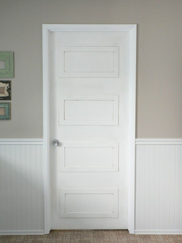 4 rectangle paneled door DIY update - For the Love of It : paneled doors - pezcame.com