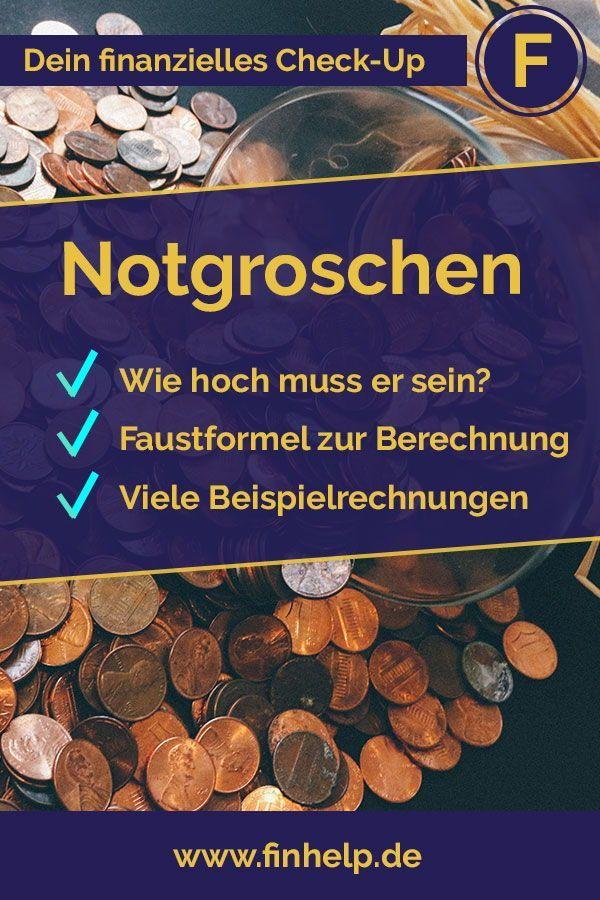 Dein Notgroschen Wie Hoch Muss Er Sein Finanztipps Finanzen Geld Sparen