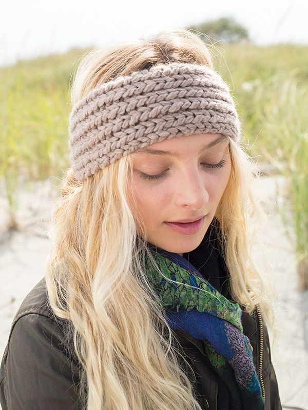 Profiteroles, a free headband knitting pattern in Berroco ...