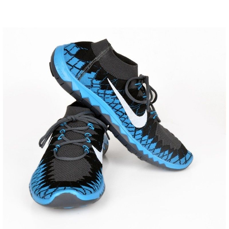 ef91d083bf35 Nike Free 3.0 Flyknit Grey   Sky Blue Shoes