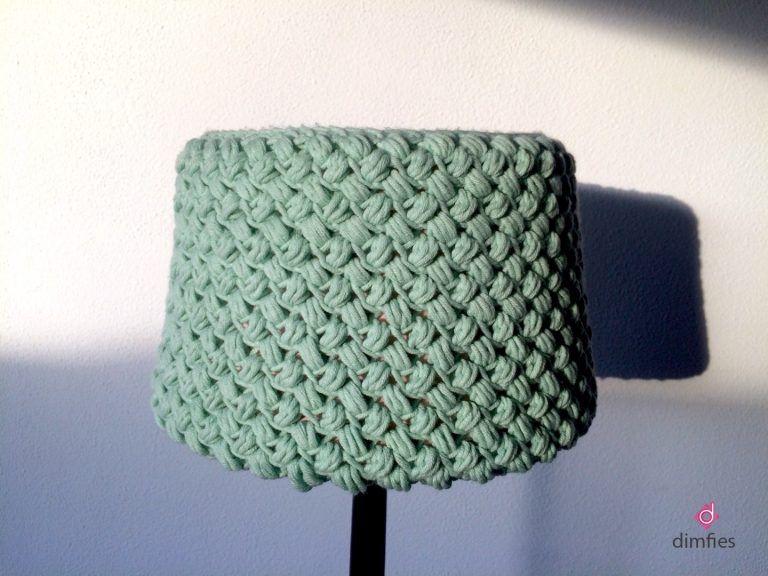 Mintgroene Lampenkap Haken Dimfies Home Crochet