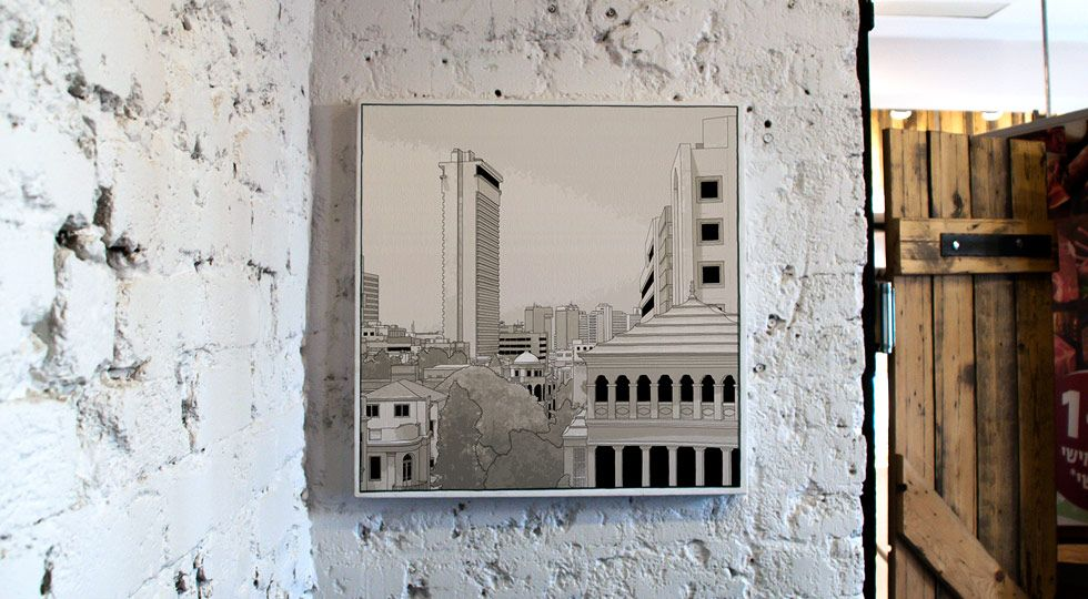 לב העיר, מבט אל רחוב מונטיפיורי ומגדל שלום