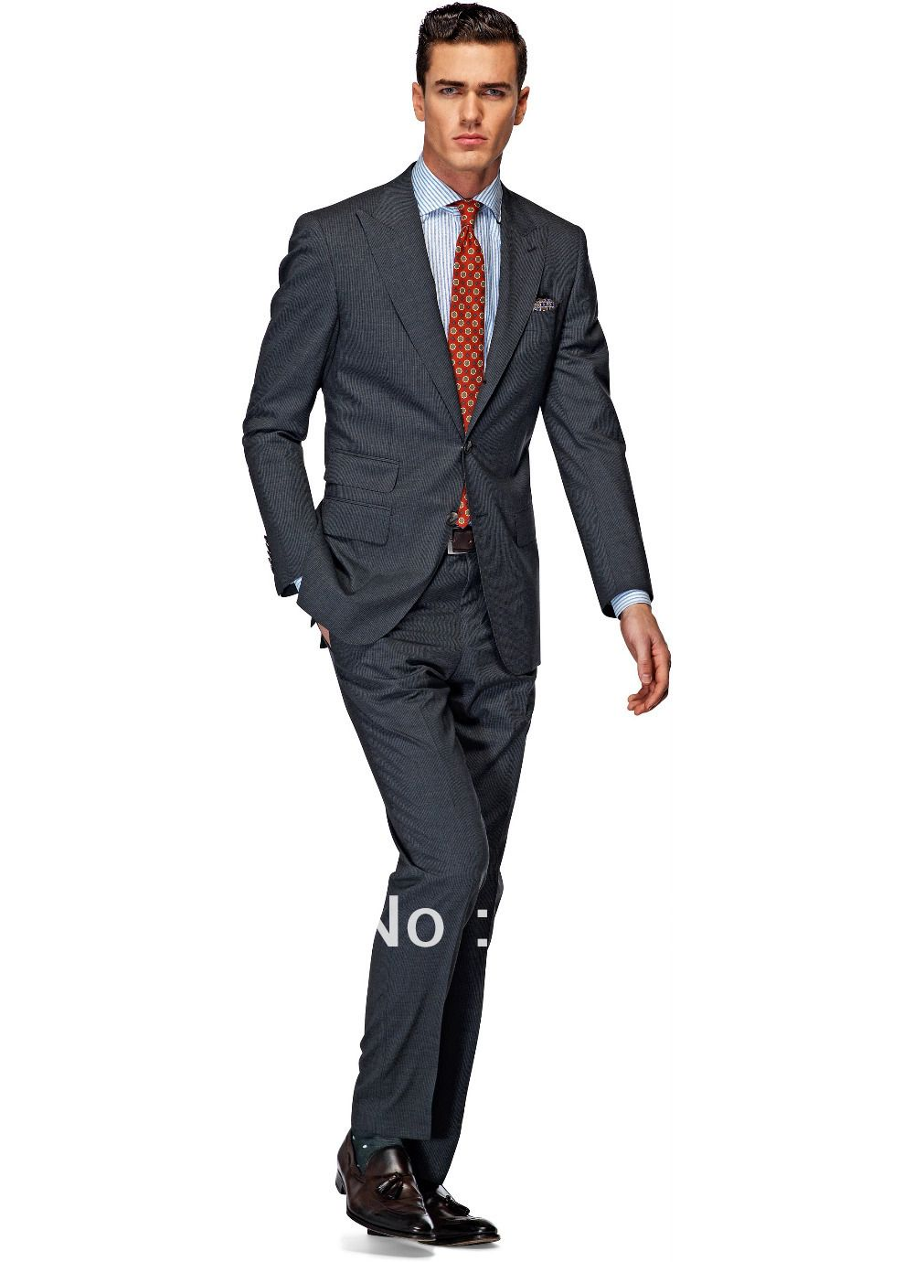 74010e12a23 High quality customized business mens suits design male suits two pieces  (Coat+Pants) ZB129 casual