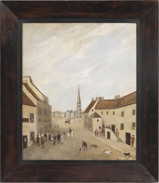 Robert Young Antiques - Collection. 'Selkirk Square, Melrose' #FolkArt
