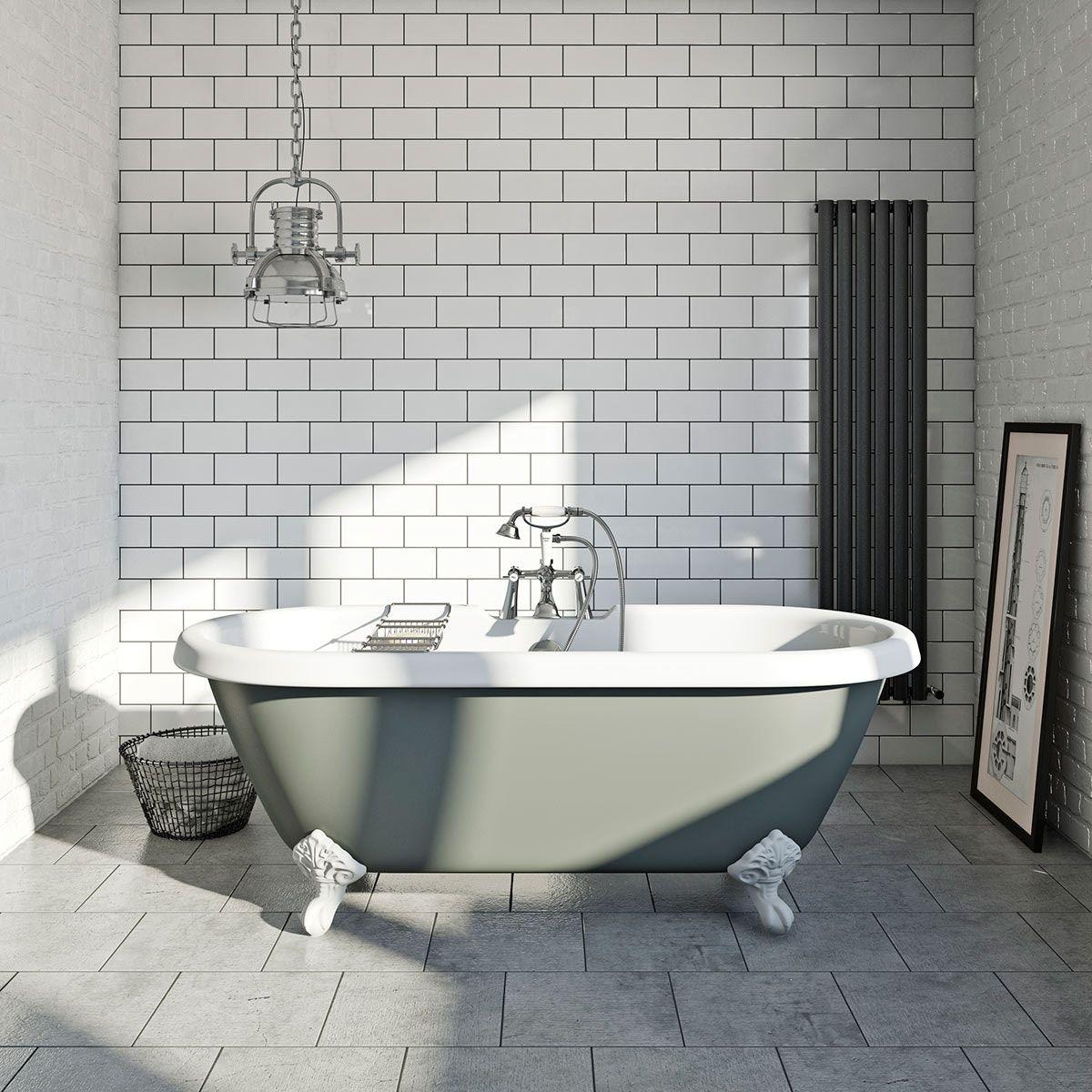 British Ceramic Tile Metro flat white gloss tile 100mm x 200mm ...
