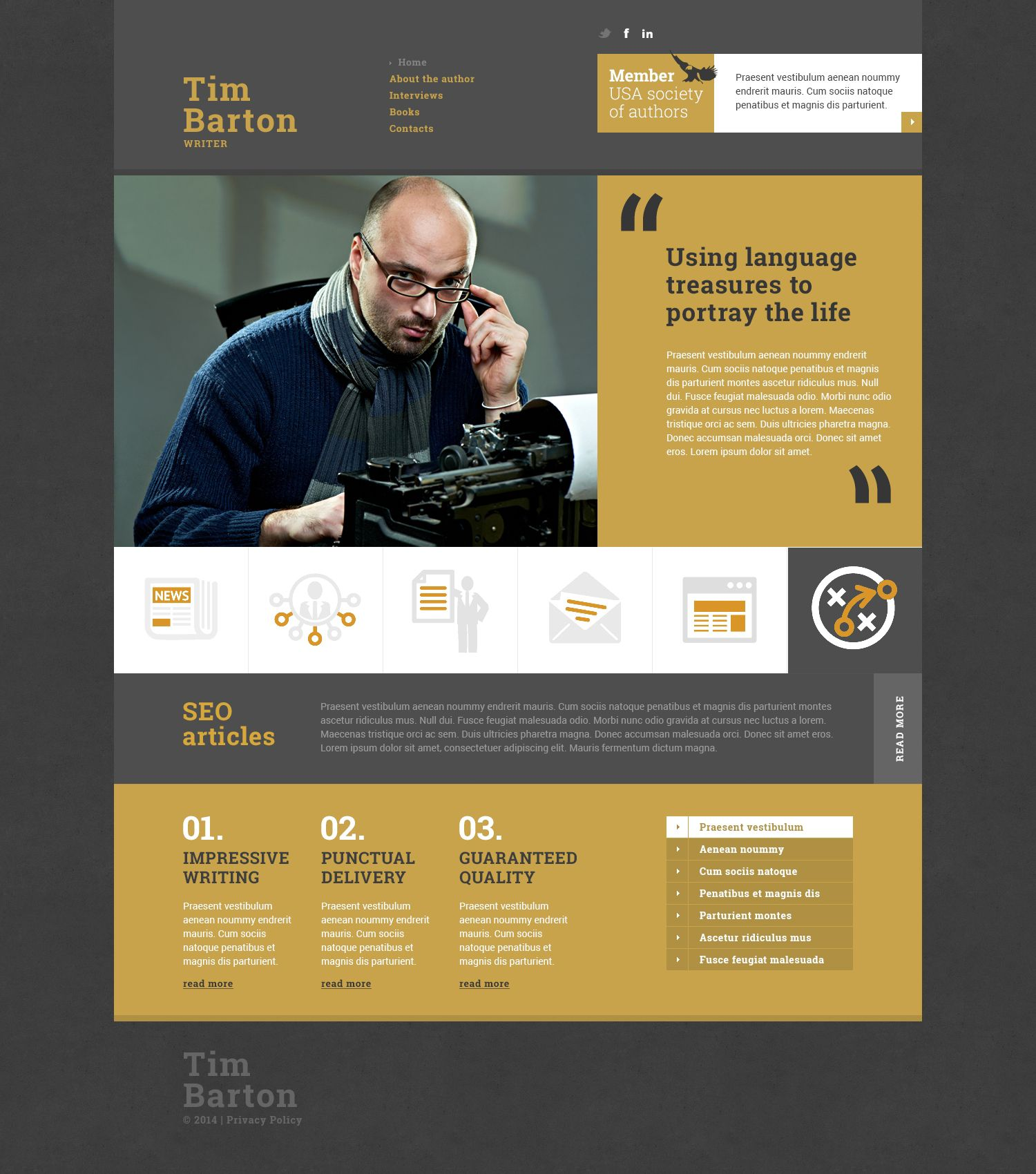 Personal Page Responsive Website Template | Template, Website and ...