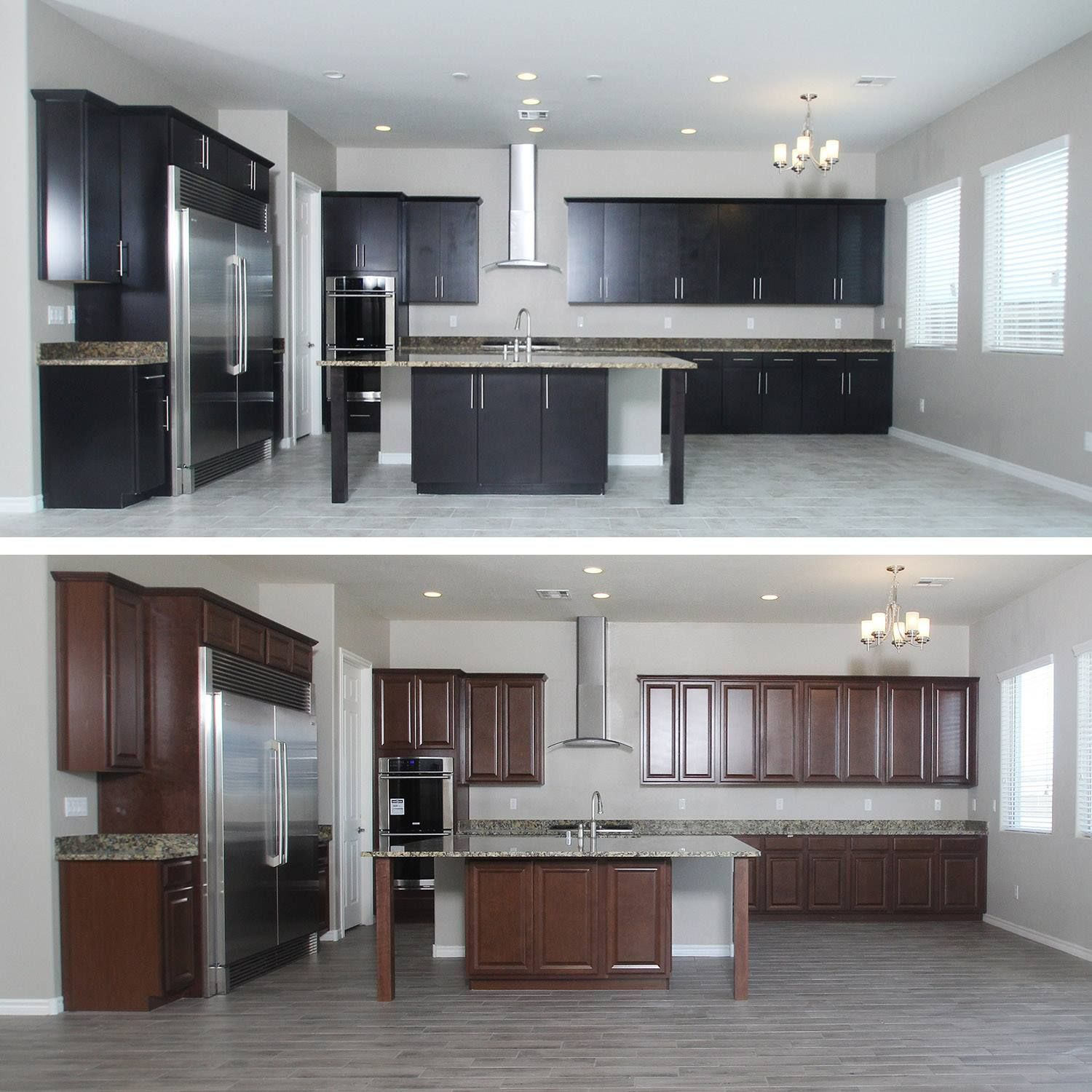 From The Cabinets To The Floor Which Kitchen Do You Like More Top Or Bottom New Home Builders Home Builders Kitchen