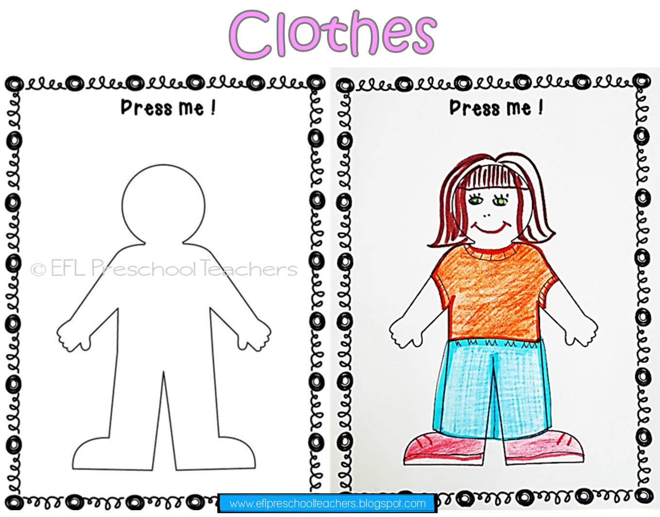 Clothes Worksheets And Flashcards For Esl