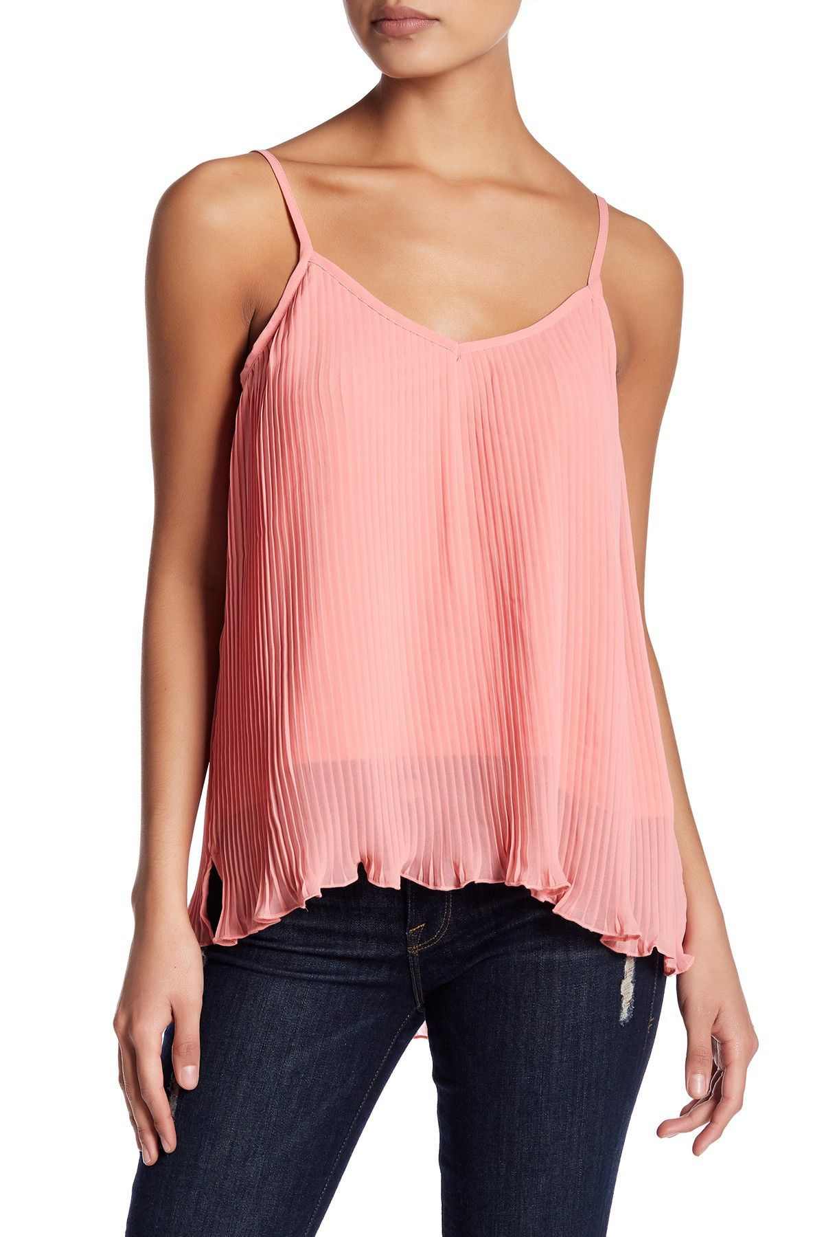 V-Neck Pleated Cami