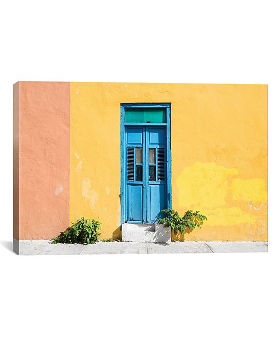 ¡Viva Mexico!: Colorful Street Wall Wrapped Canvas