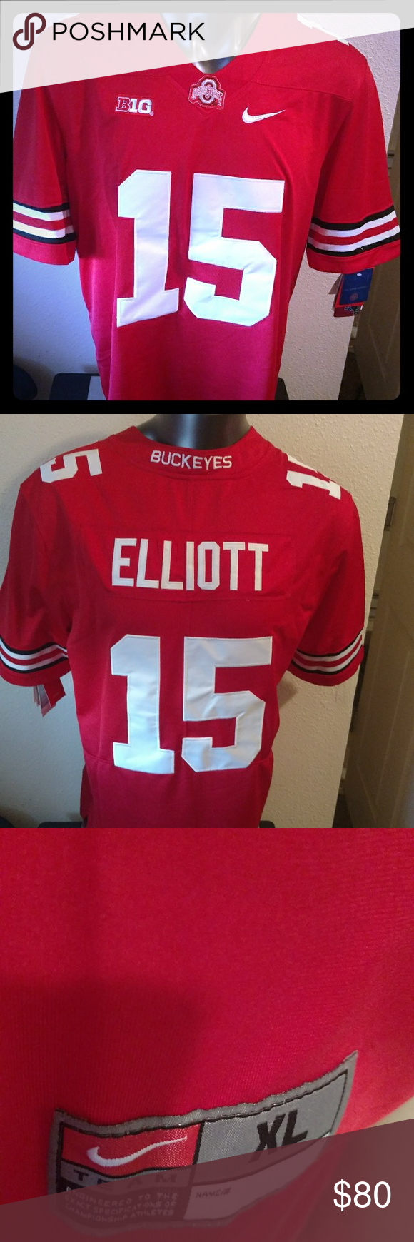 cheap for discount e2cf0 67292 Ohio State Zeke Elliot Nike Football Jersey NWT Ohio State ...
