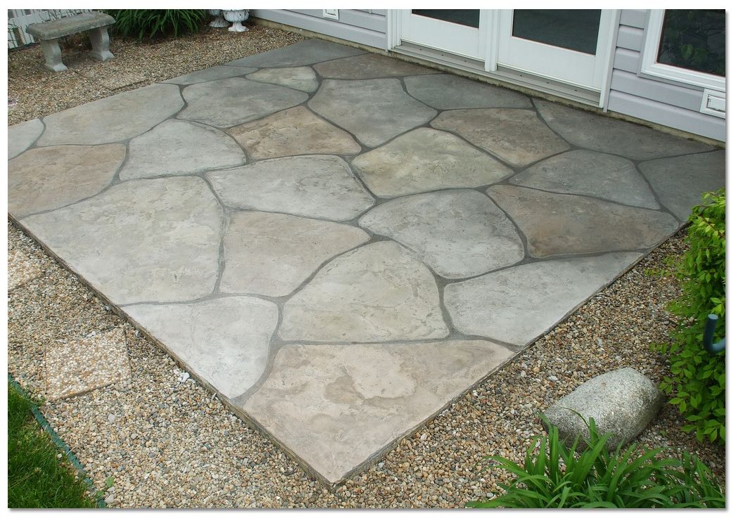 Simple concrete patio designs popular unique concrete for Simple patio design ideas