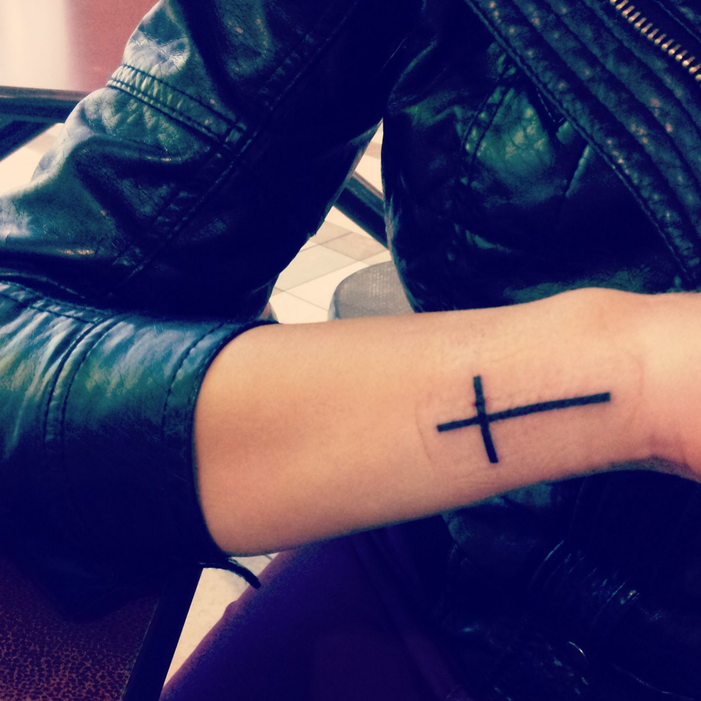 Cross tattoo this is exactly what i 39 m goin to be getting for Tattoos when you get old