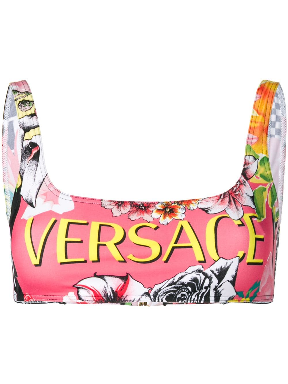 12069c320b Versace Floral Logo Bikini Top in 2019 | Products | Floral logo ...