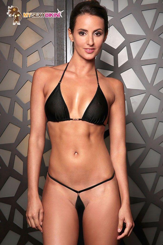 bbffde7fca699 Extreme micro bikini string transparent ou microkini noir - Tahiti 1 ...