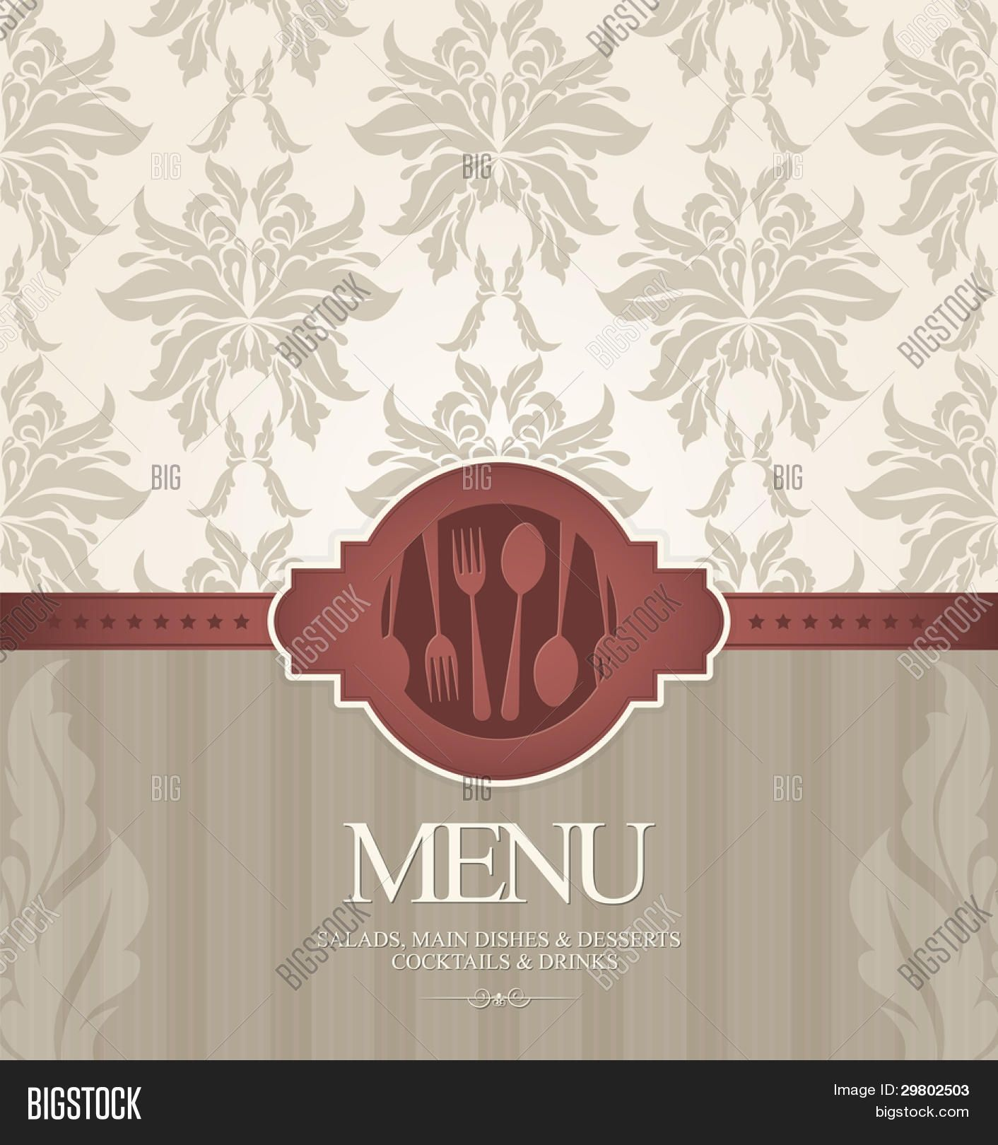 hd background menu design - restaurant menu design with seamless