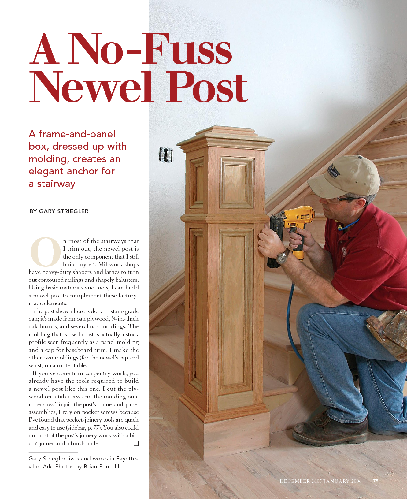 Beautiful Interior Staircase Ideas And Newel Post Designs: No-Fuss Newel Post This Link Wants You To