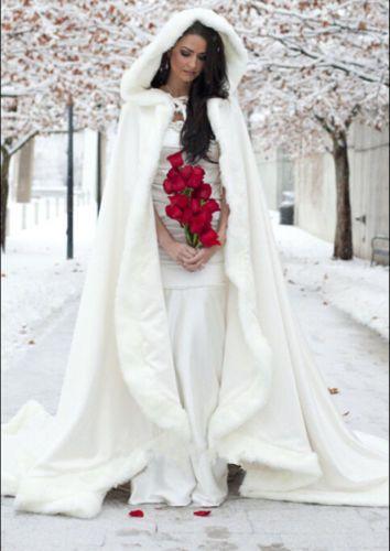 2015 New Gorgeous Bridal Winter Wedding Cloak Cape Faux