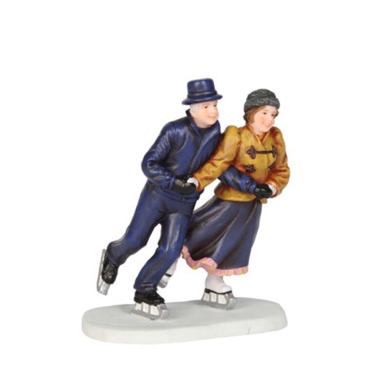 Christmas Skating Figurines Cake Toppers