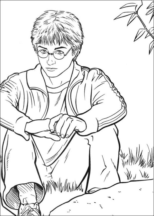 harry potter colouring - Google Search | Coloriage harry ...