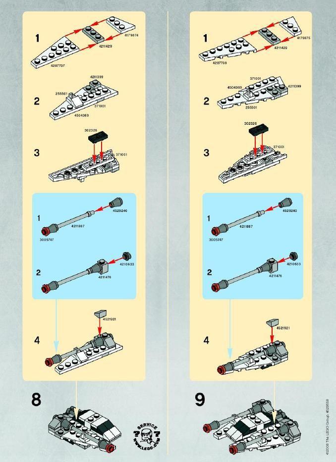 Star Wars Mini Mini Snowspeeder Lego 8029 Seans Board