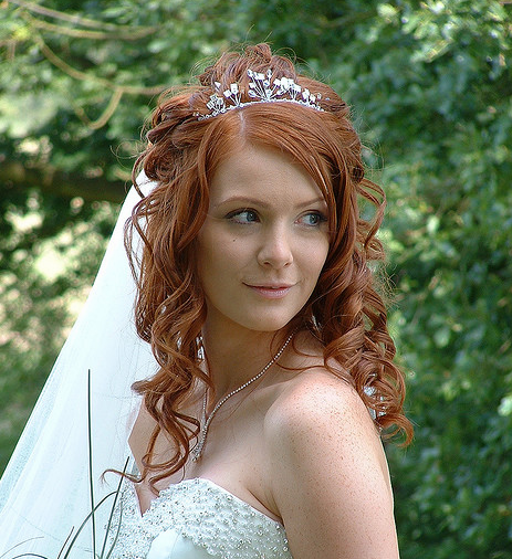 Wedding Hairstyles With Bangs For Long Hair: Image Detail For -Red Hair Curly Bridal Hairstyle With