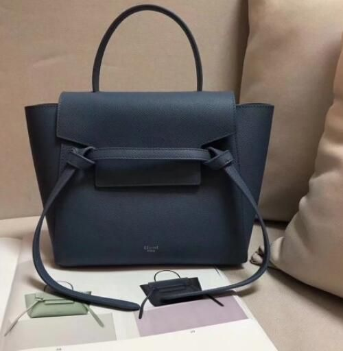 f817612e91 2018 Cheap Celine Nano Belt bag in grained calfskin Pearl blue ...
