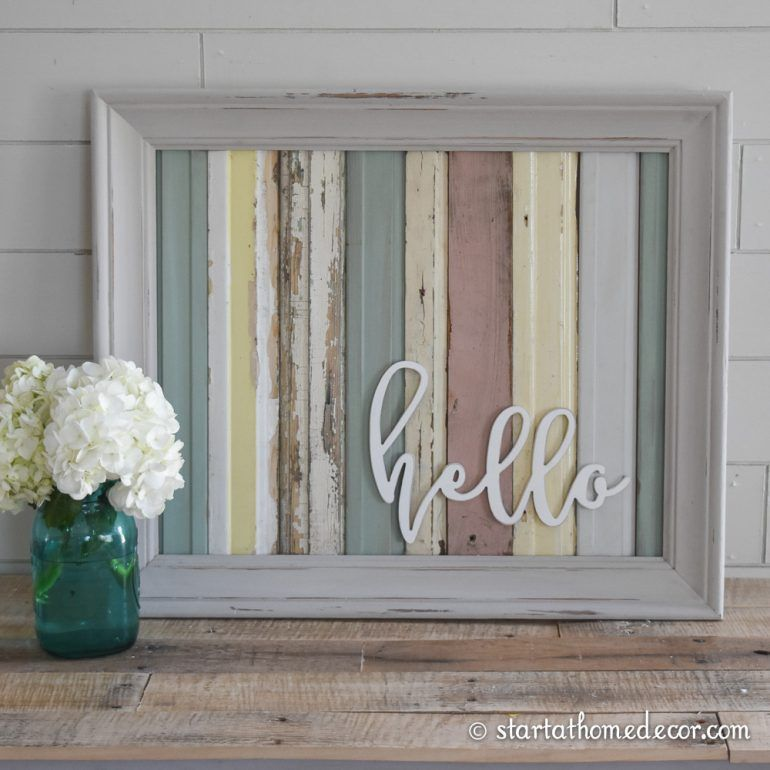 Start at Home Decor's Reclaimed Wood Signs with Wood Word Cutouts. - Start At Home Decor's Reclaimed Wood Signs With Wood Word Cutouts