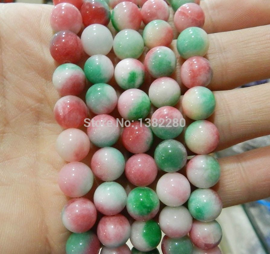 New 6mm 8mm10mm Yellow Multi-color Turquoise Gemstone Round Loose Bead 15/'/'