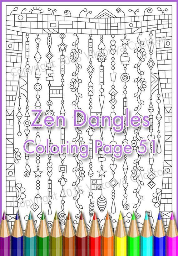 Coloring Page Zen Dangles Doodle Zenspirations Zendoodle