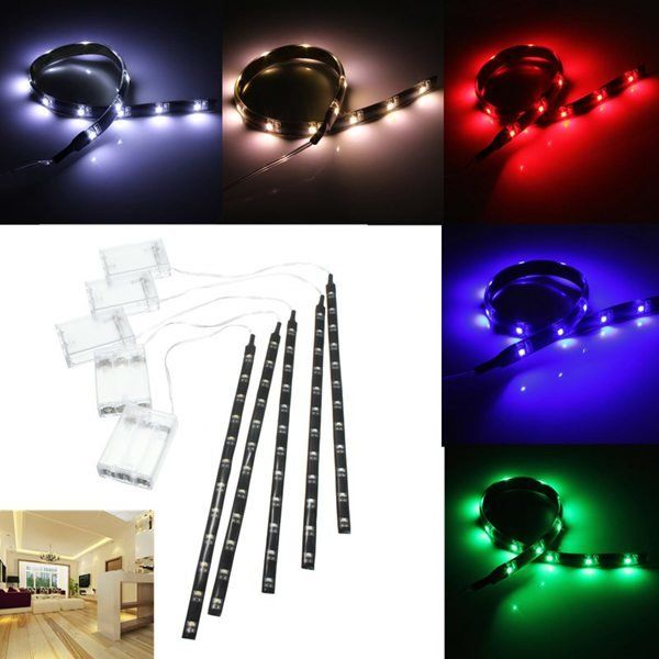 4 5v Battery Operated 30cm Led Strip Light Waterproof Craft Lights Hobby Light Led Strip From Lights Lighting On Banggood Com Led Strip Lighting Strip Lighting Led Strip