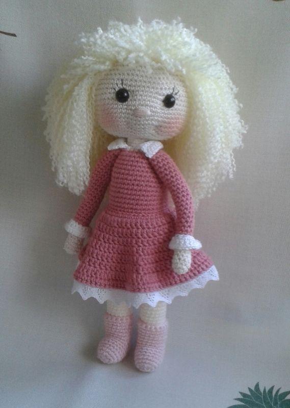 Amigurumi Häkelpuppe Jule Puppe ca 32 cm häkeln Häkelfigur ...