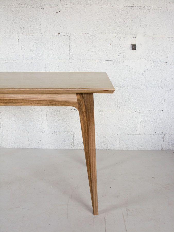 Table noyer et multiplis bouleau antoine mazurier b niste designer antoine mazurier - Ebeniste designer meubles ...
