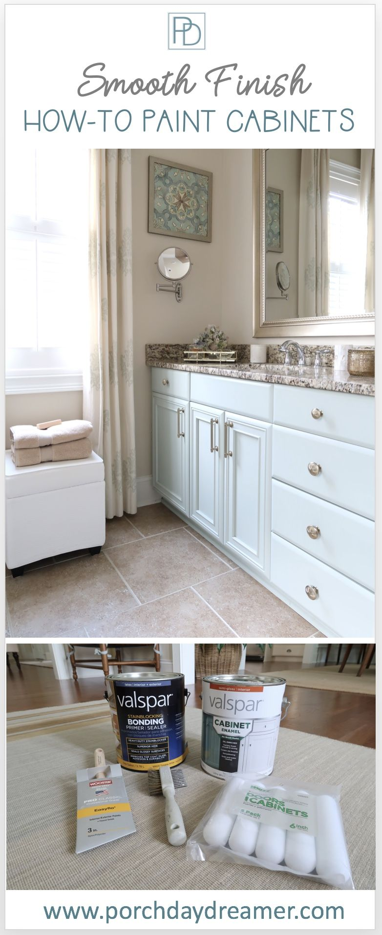 Best How To Paint Cabinets And Get A Smooth Finish Painting 400 x 300