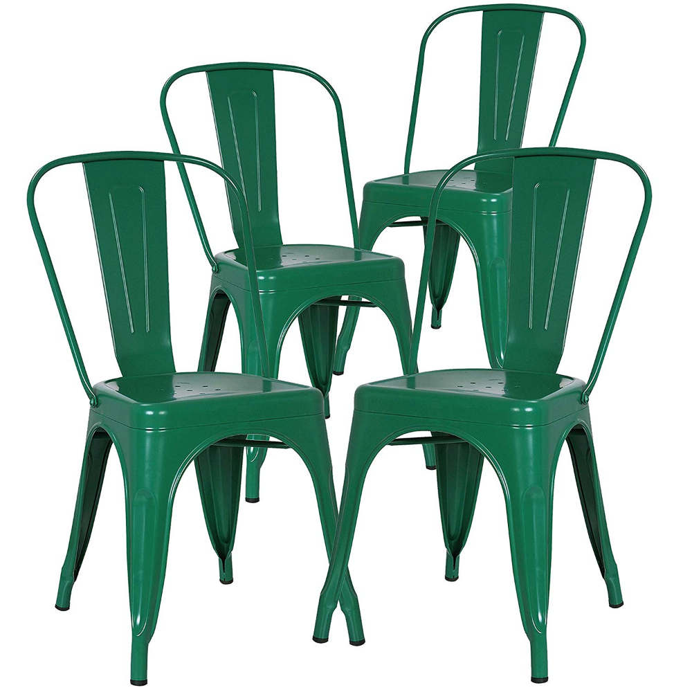 Amazon.com: Poly and Bark Trattoria Patio and Dining Metal ...