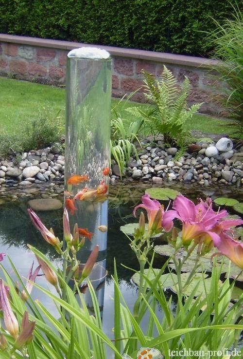 Pondtower so kann man seine koi oder goldfische sch n for Koi und goldfische