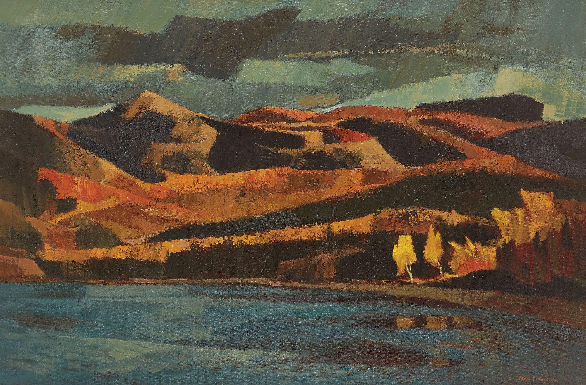 Alan Collier; Alona Bay, Lake Superior Painting