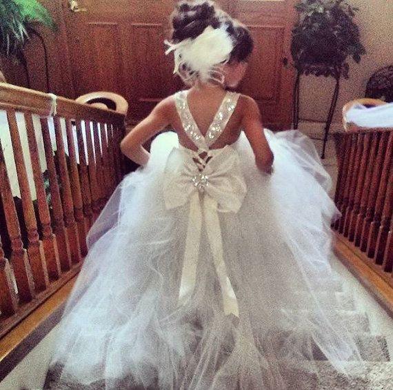 Bailey Mini Bride Flower Girl Dress