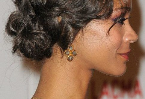 Side-View-of-Short-Black-Prom-Updos
